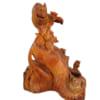 Tượng gia đình chuột gỗ hương