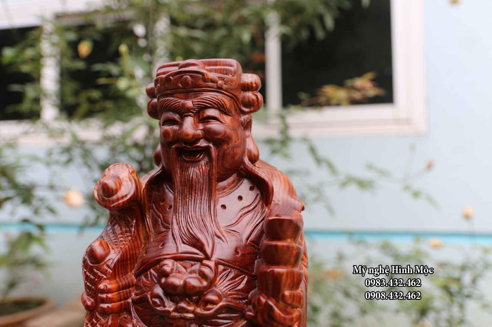 Tượng Tam Đa 40cm gỗ trắc dây