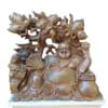 Tượng Phật Di Lặc để bàn gỗ bách xanh