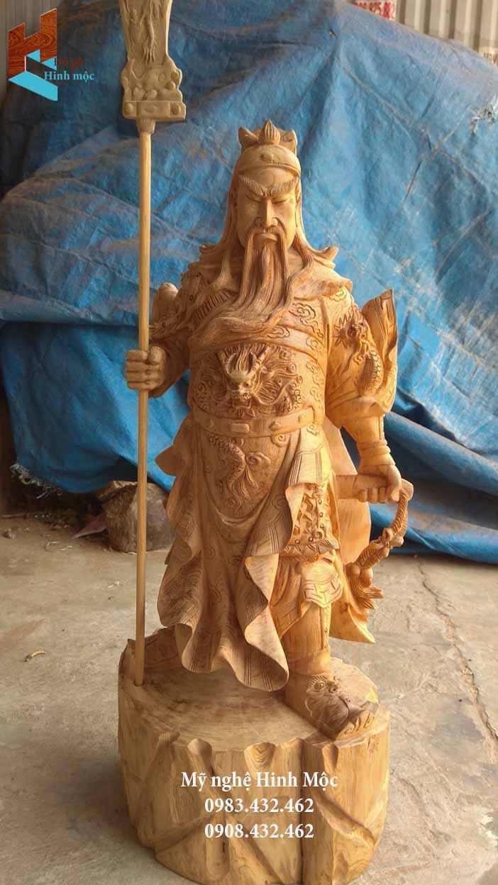 Tượng Quan Vũ bằng gỗ Ngọc Am