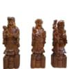 3 ông Tam Tiên gỗ bách xanh 60cm