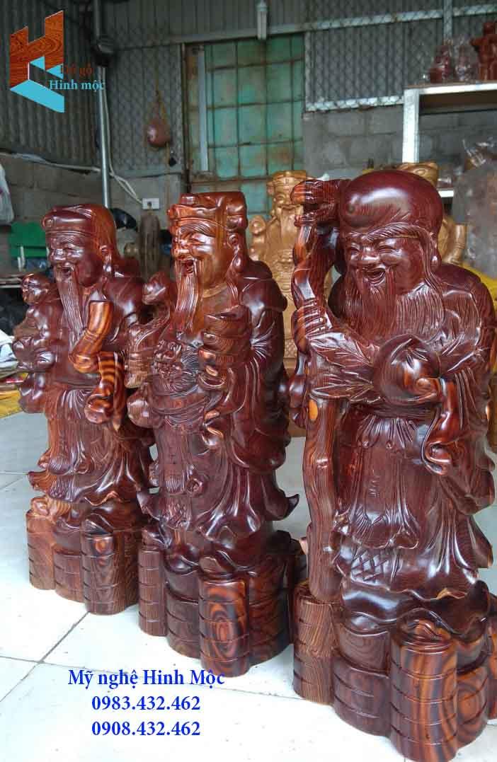 Tượng Tam Đa Phước Lộc Thọ bằng gỗ