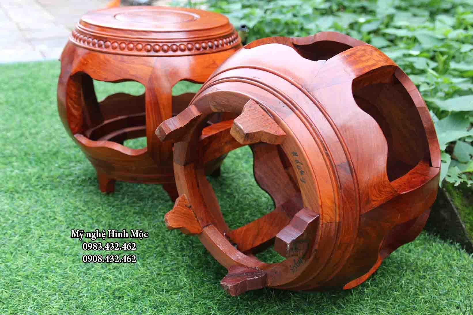 đôn trống bằng gỗ