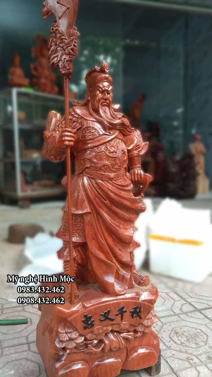 Tượng Quan Công 70cm gỗ hương