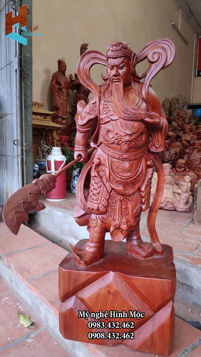 Tượng Quan Thánh Đế 70cm gỗ hương