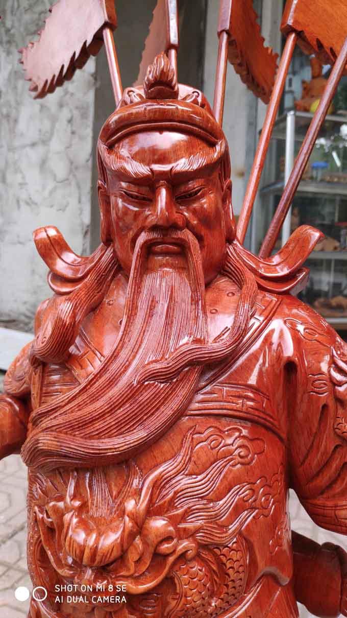 Tượng gỗ Quan Công 70cm