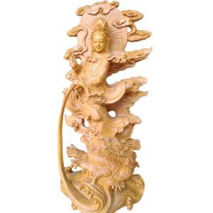 Tượng Phật Bà ngự long 70cm