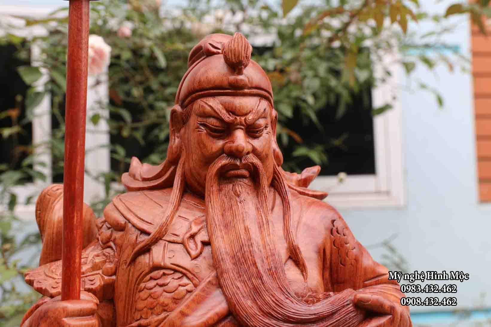 Tượng Quan vân trường 80cm
