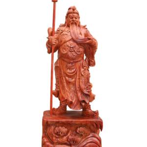 Tượng Quan Vân Trường bằng gỗ