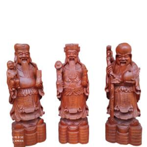 Bộ tượng Tam Đa cao 60cm gỗ hương ta