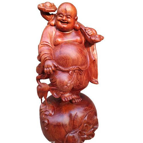 Phật Di Lặc vác như ý đứng túi tiền