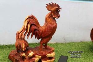 Tượng gia đình gà