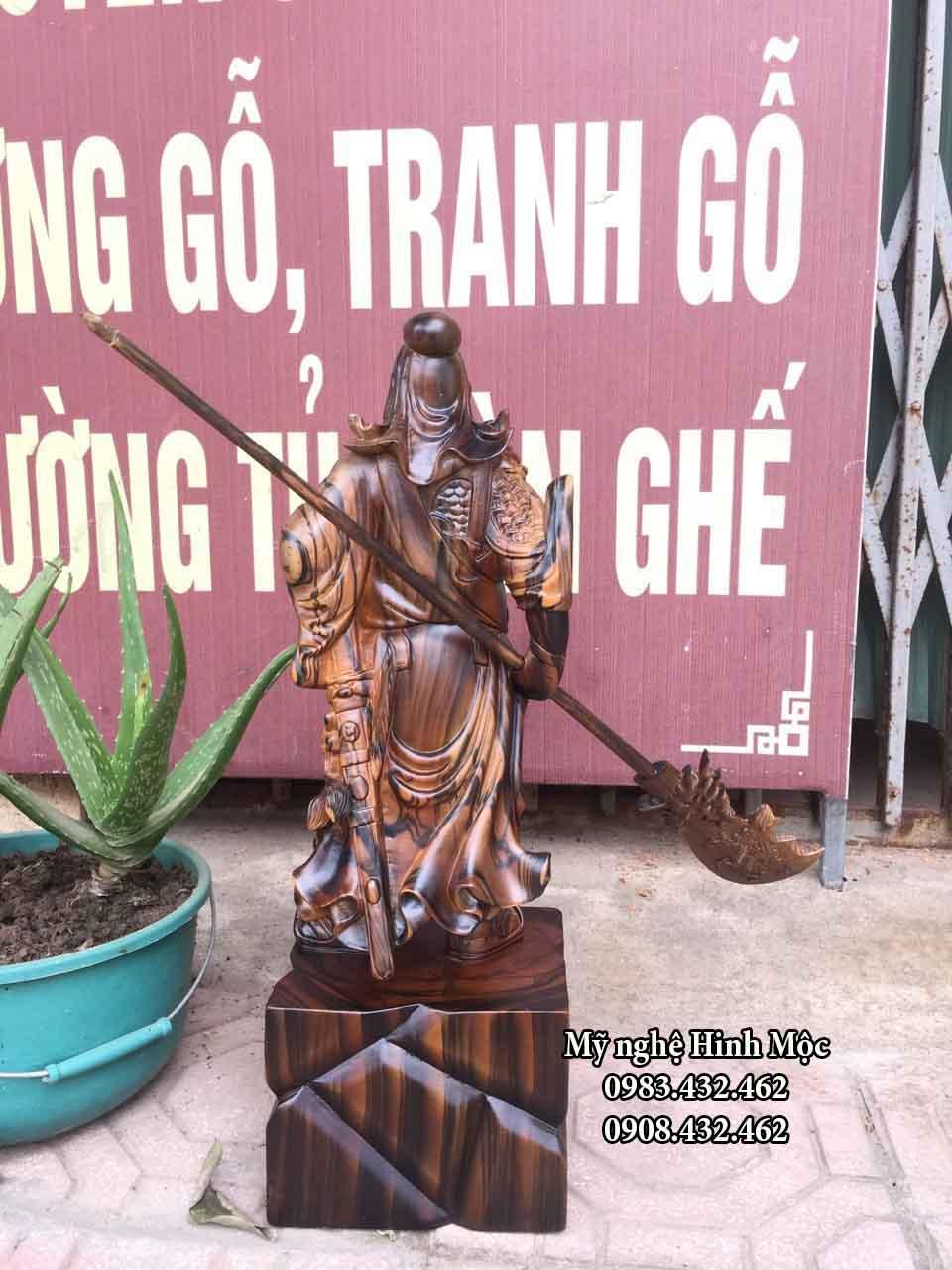 tượng quan công gỗ mun