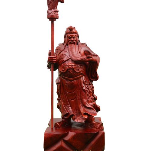 Tượng Quan Công 40cm gỗ hương ta