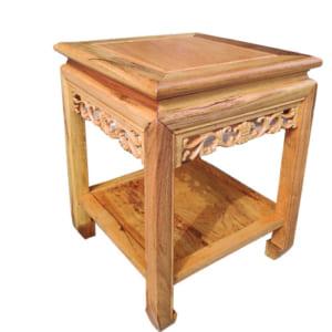 Ghế đôn vuông cao 50cm gỗ gụ