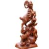 Tượng 3 con dê gỗ hương