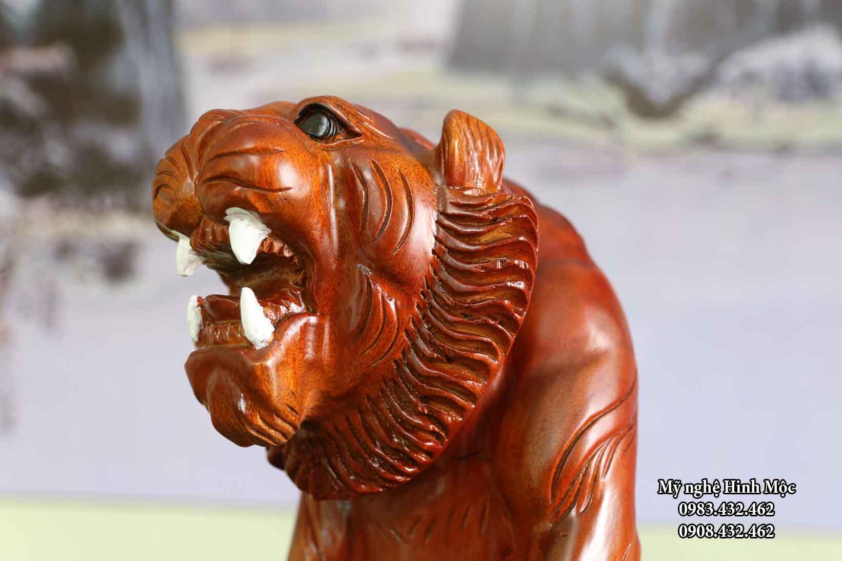 Tượng hổ gỗ xà cừ