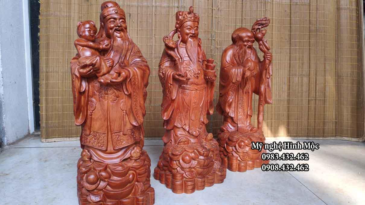 Tượng gỗ Tam Đa cao 60cm