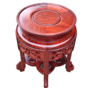Đôn mặt tròn cao 40cm gỗ hương