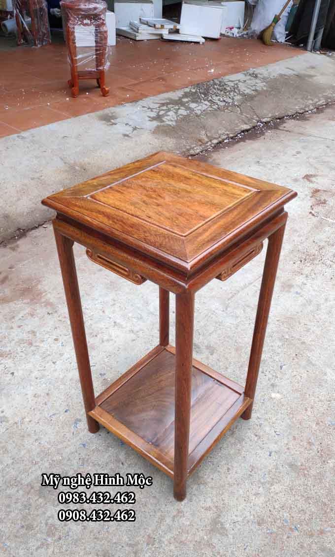 Đôn vuông cao 70cm gỗ gụ