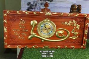 Đồng hồ gỗ chữ Lộc
