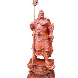 Ông Quan Công đứng cầm đao cao 60cm mẫu mới