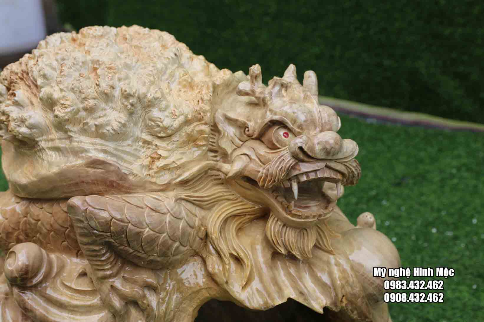 con rùa đầu rồng gỗ nu nghiến