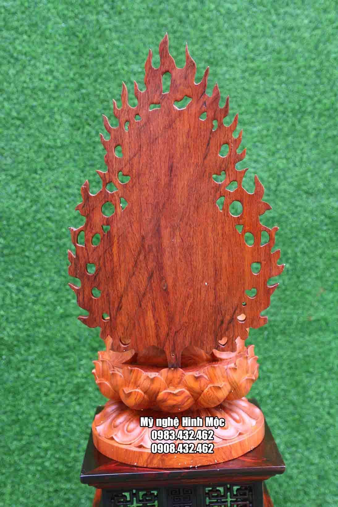 Tượng Quan Âm Bồ Tát gỗ hương đá