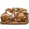 Tượng Di Lặc kéo bao tiền vàng gỗ Ngọc Am