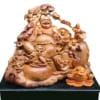 Phật Di Lặc ngồi ngũ phúc gỗ hương ta