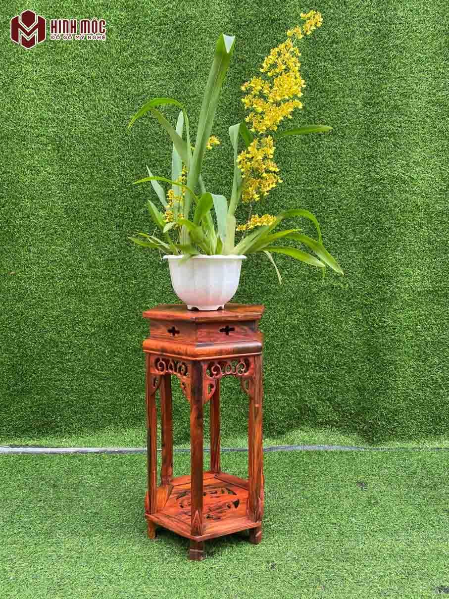 Đôn gỗ kê lọ hoa