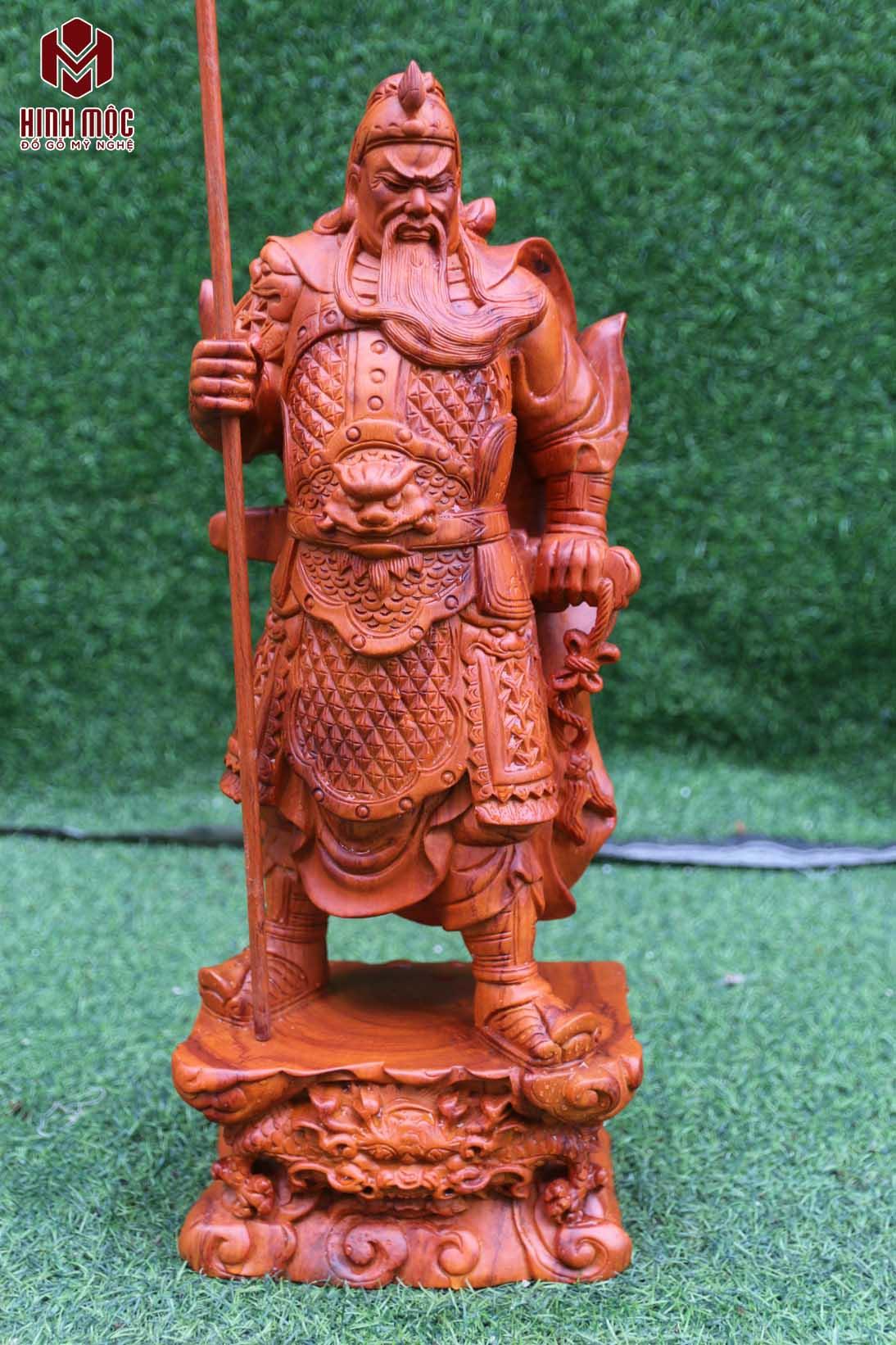 quan võ thánh gỗ hương cao 50cm