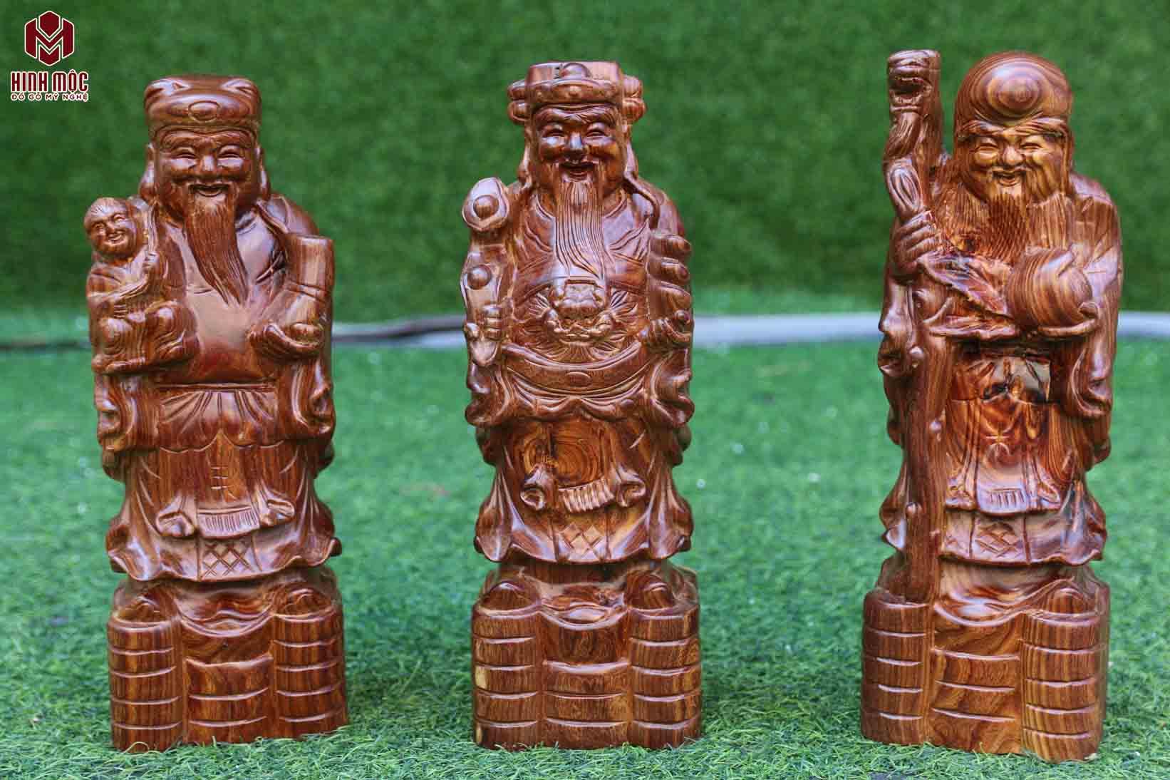 tượng gỗ tam đa cao 30cm