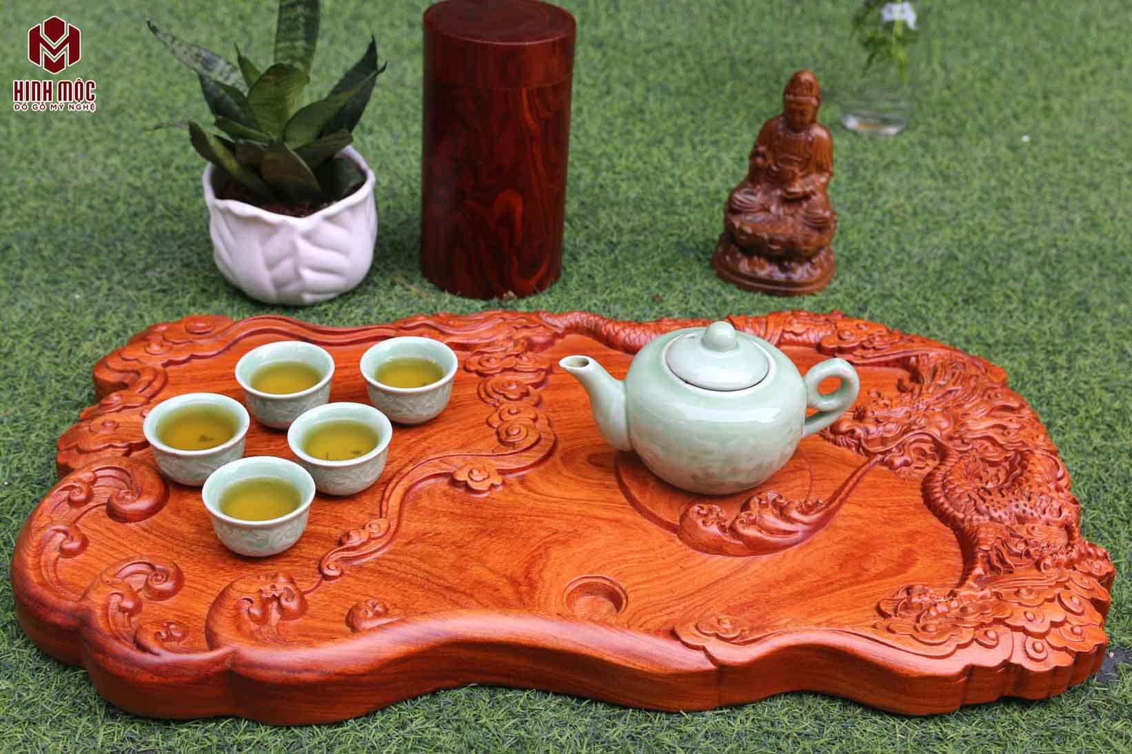 khay trà gỗ liền khối